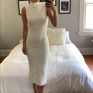 Alice & Olivia off white slimming dress!